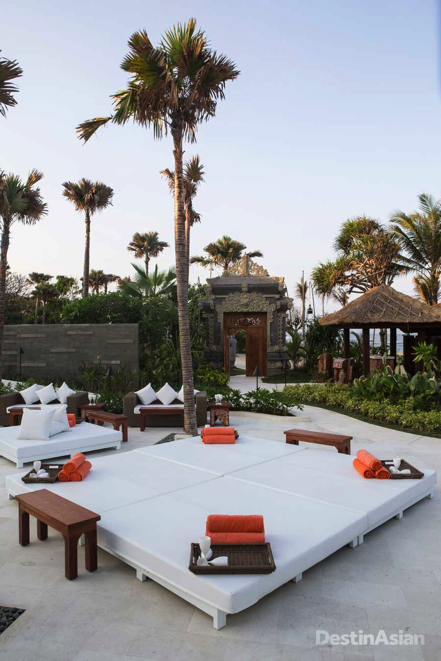 Nikki Beach's signature all-white daybeds.
