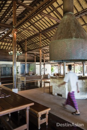 The dining pavilion at Amanwana.