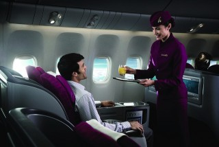 The flight to Bali will be equipped with business class.