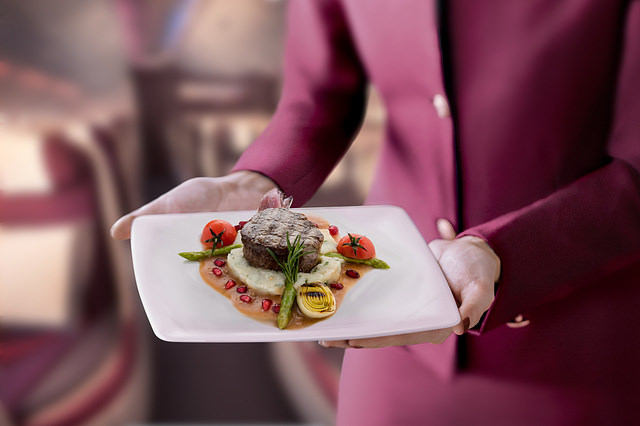 Passengers now have the premium luxury of eating whatever and whenever they want aboard Qatar Airways