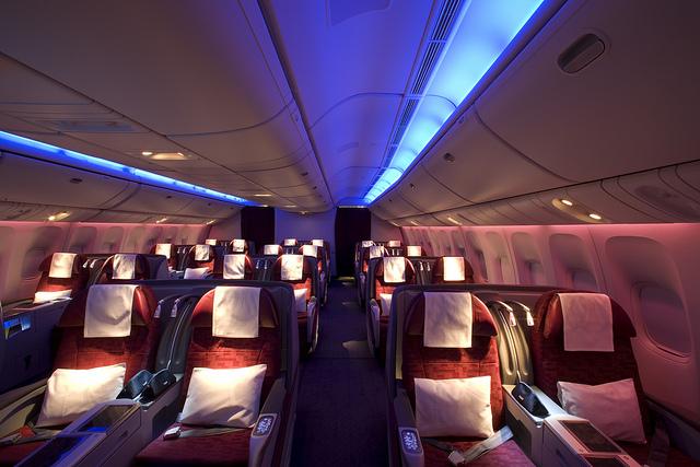 Qatar business class.