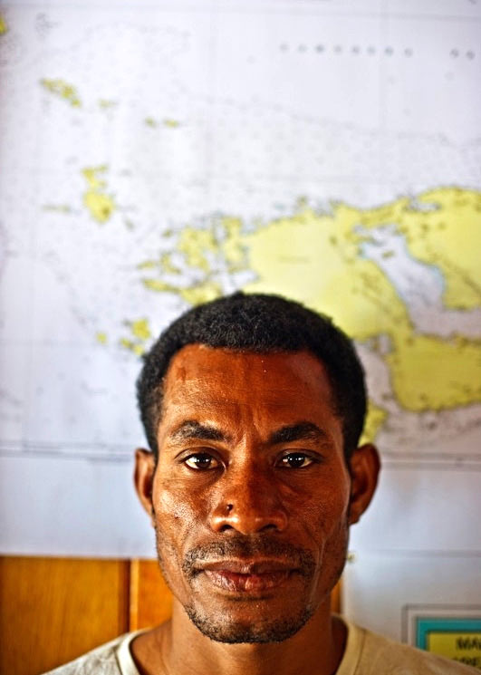 Hengky Dimalouw, an MPA field officer stationed on Wayag.