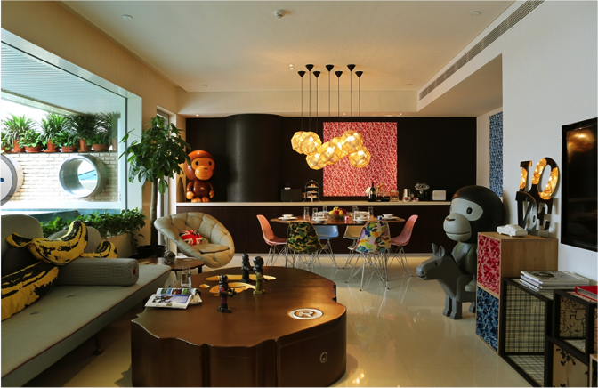 The Real Bape suite, inspired by the Bathing Ape fashion brand.