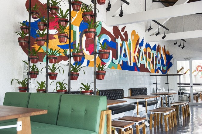 Lokal Restaurant features locally sourced ingredients in dishes such as quail pizza and a mean bubur ayam.
