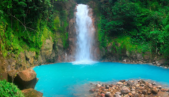 Rio Celeste falls. All photos are courtesy of Peninsula Papagayo.