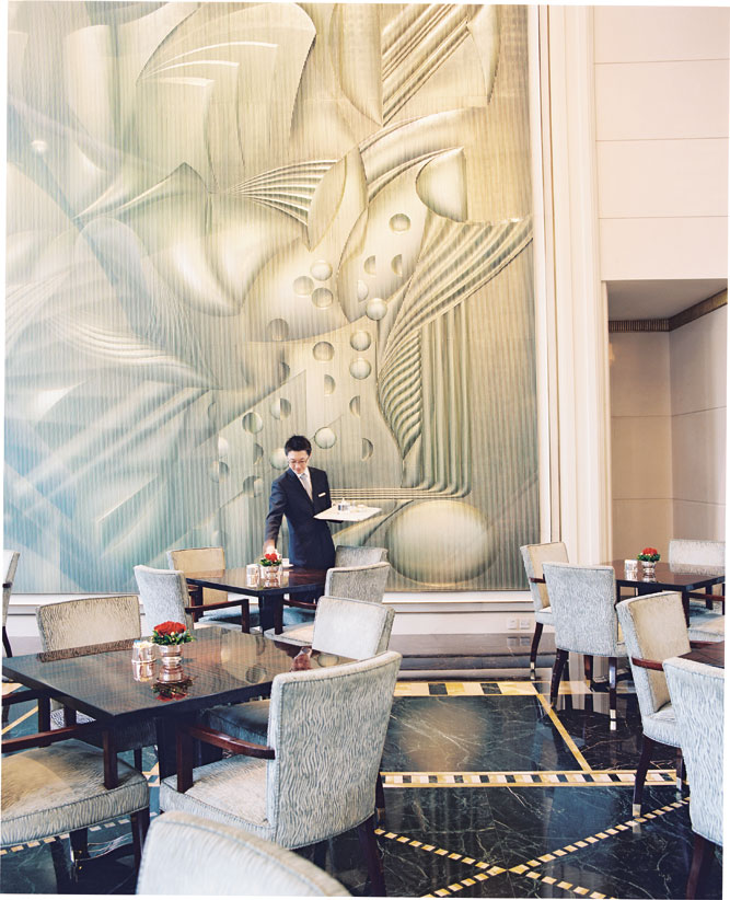 The lobby lounge at The Peninsula Shanghai