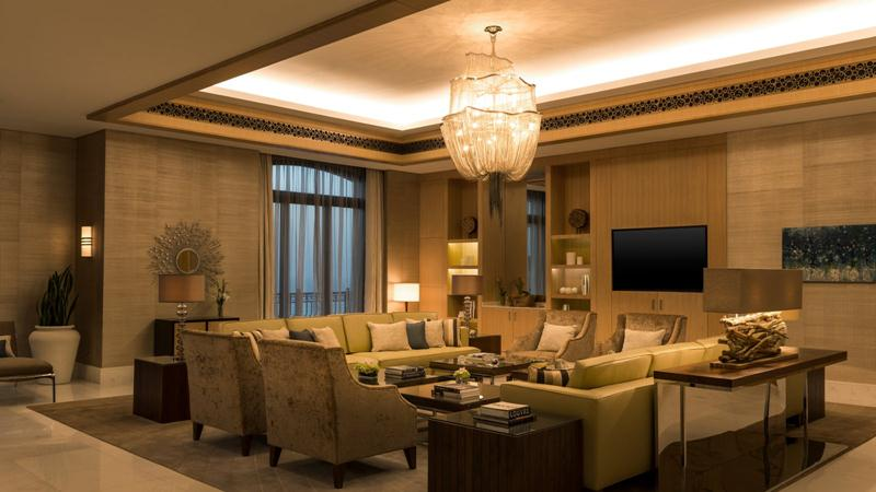 The Royal Suite's interior design was inspired by the sea and white-sand beaches.