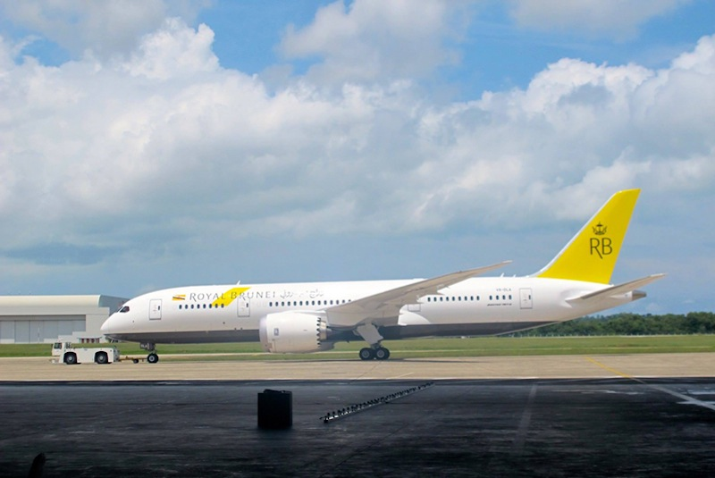 Royal Brunei Airlines' Boeing 787 Dreamliner.