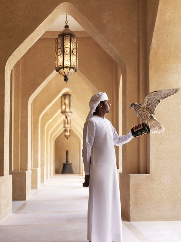 The resort has its own in-house falconer.