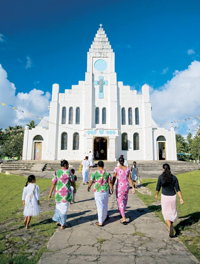 One of Samoa's many Catholic churches.