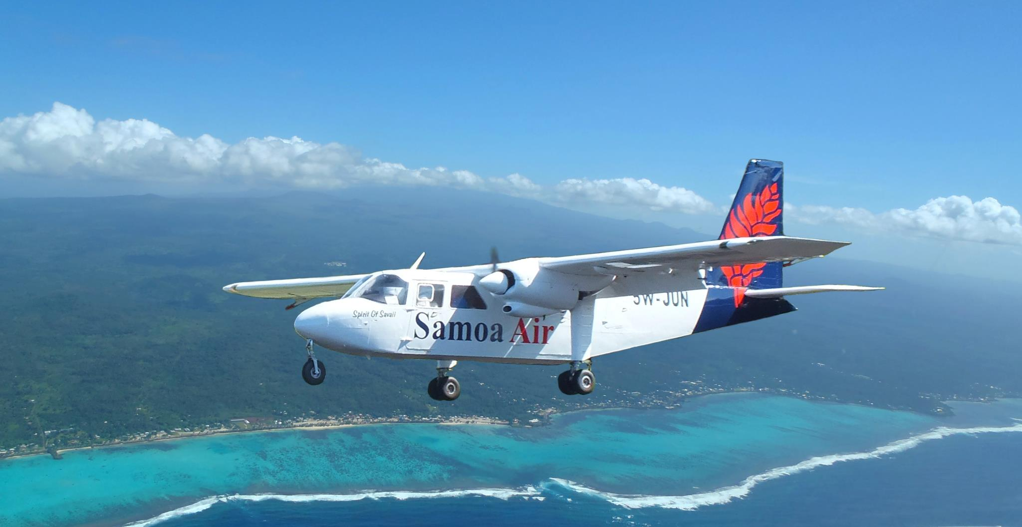 Up in the air in Samoa.