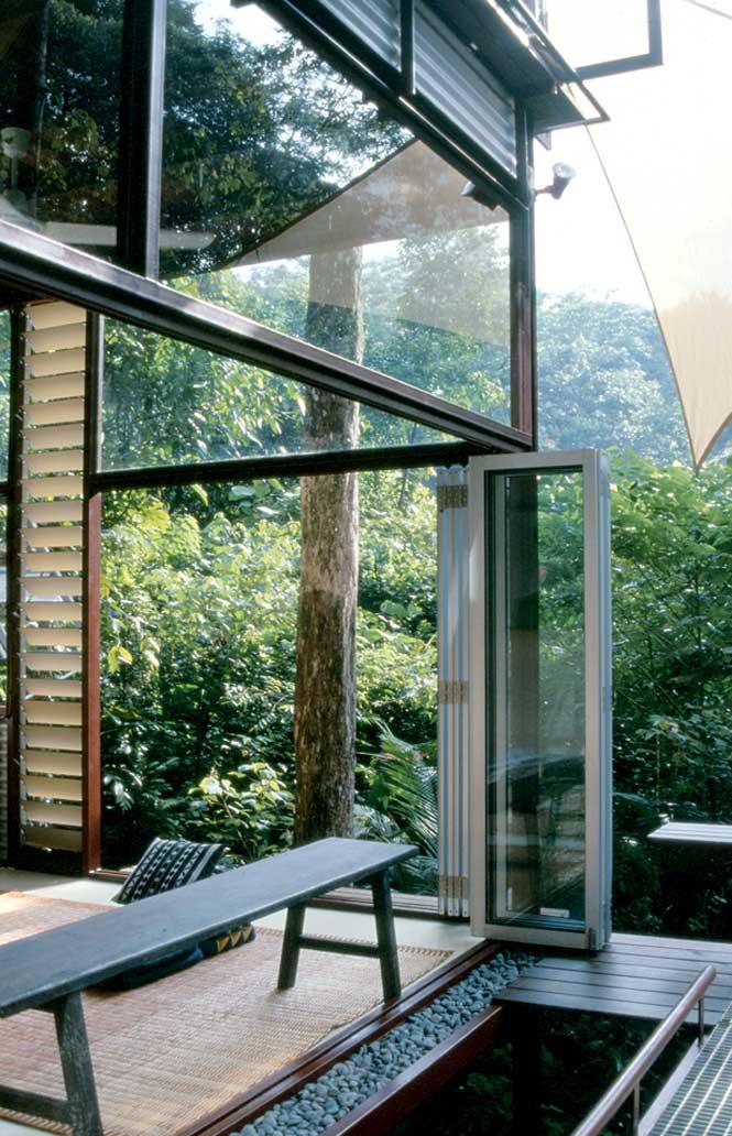 An open-air duplex lodge at Sekeping.
