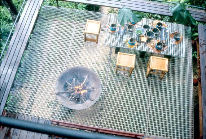 Alfresco patio dining.