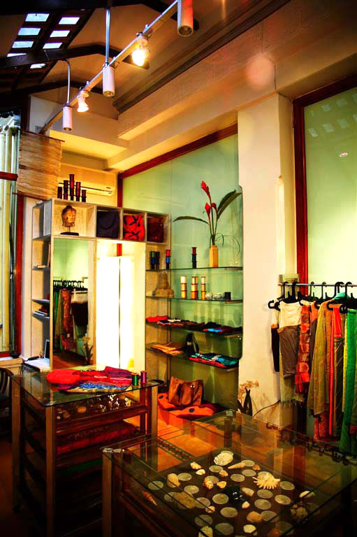 Shop interior at Julie Kagti.