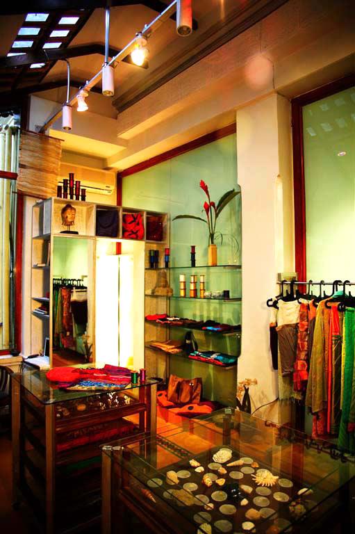 Shop interior at Julie Kagti.