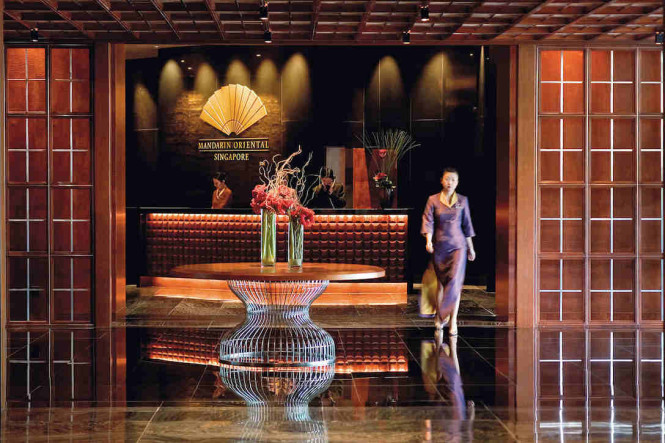 Lobby of the Mandarin Oriental in Singapore