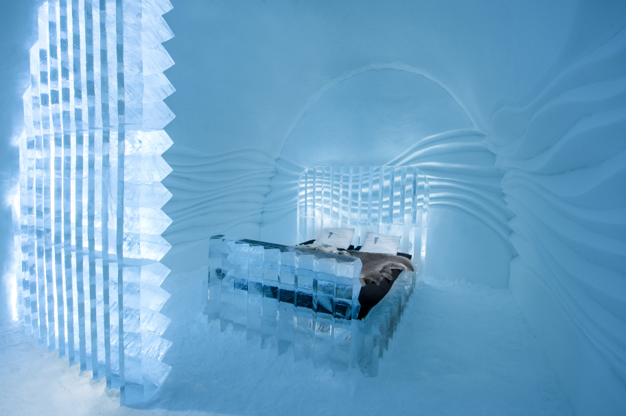 Artists Nicolas Triboulot and Laurent-Grapin designed the Eye Suite at Icehotel this year.