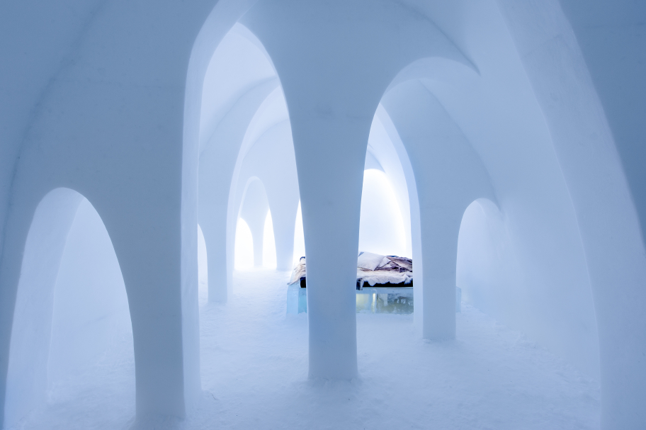 This year's 'Flying Buttress' Art Suite at Icehotel.