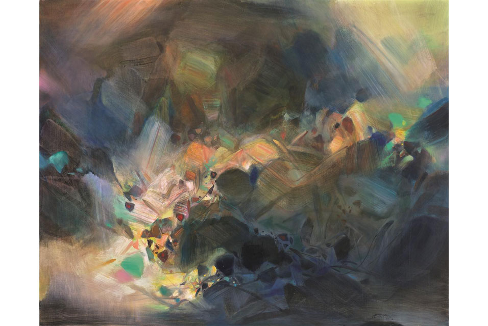 Chu Teh-Chun's work to be offered at Sotheby's Hong Kong.