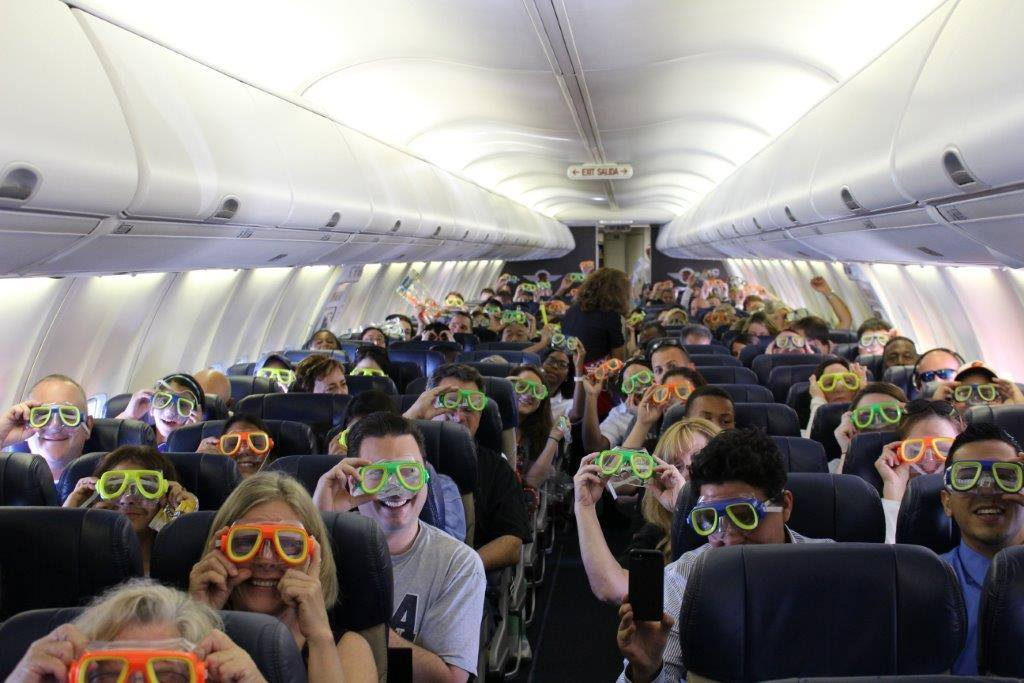 Southwest Airlines launches its first ever international flights.