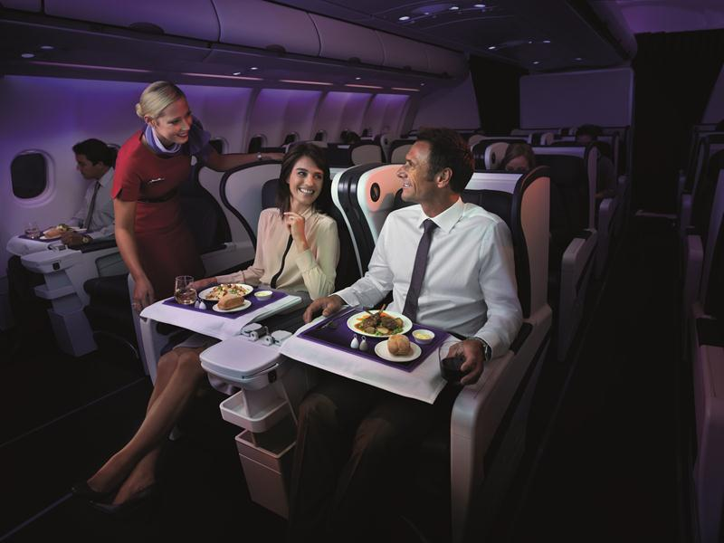The Business Class menu was designed by celebrity chef Luke Mangan.