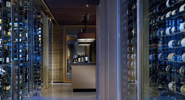 The restaurant's wine cellar.