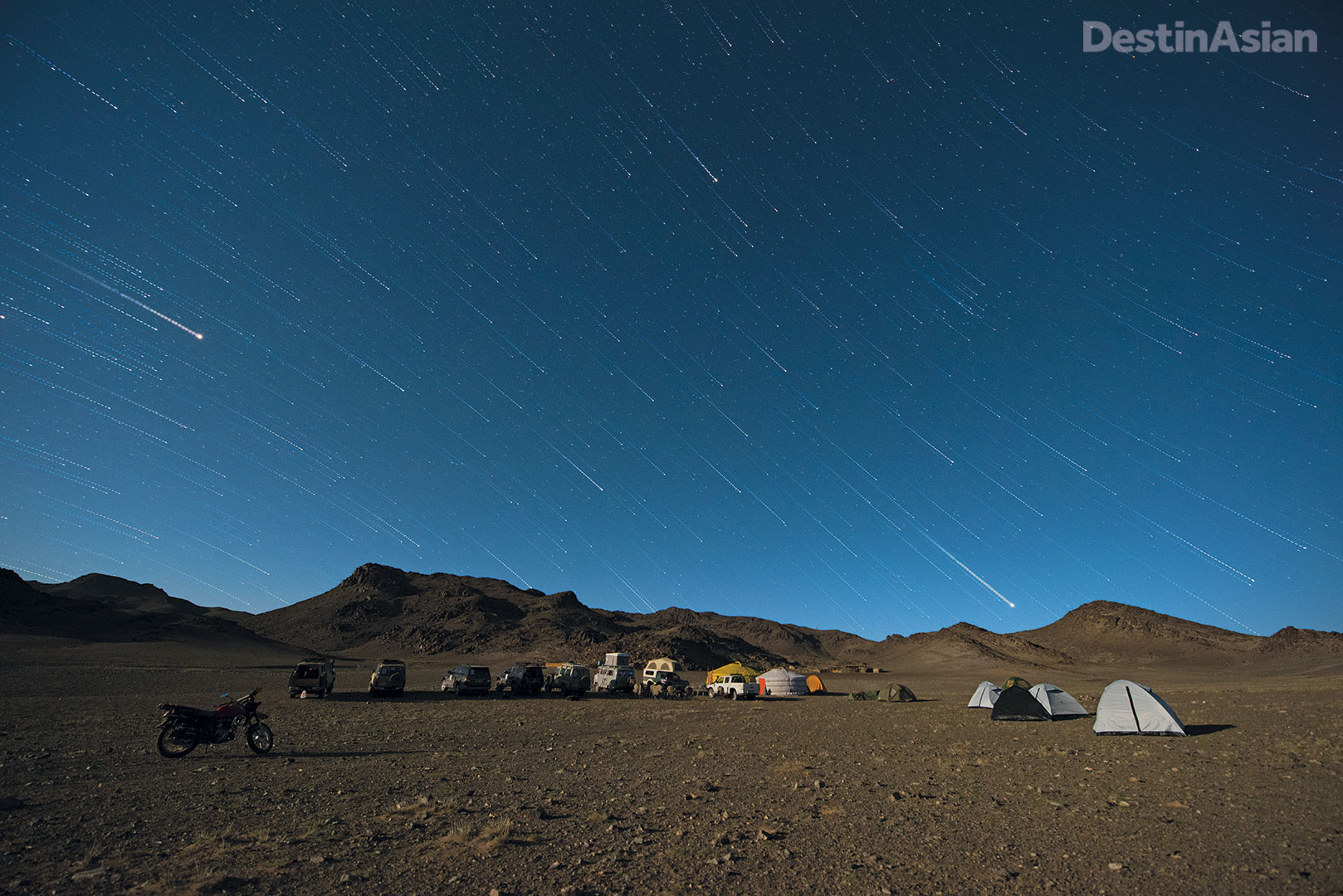 Camping under the stars deep into the wilderness of Mongolia's southernmost province, Ömnögovi.