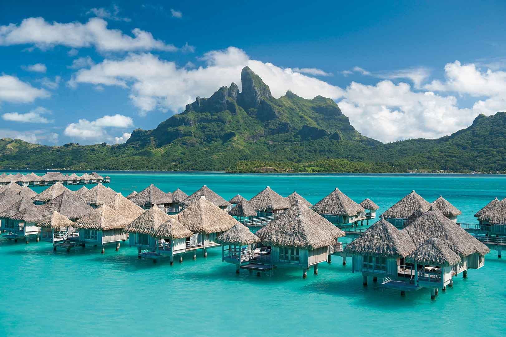 The Volcanic Peaks Of Mount Otemanu Provide A Dramatic Backdrop To St Regis Bora All Photos Are Courtesy Property Mentioned
