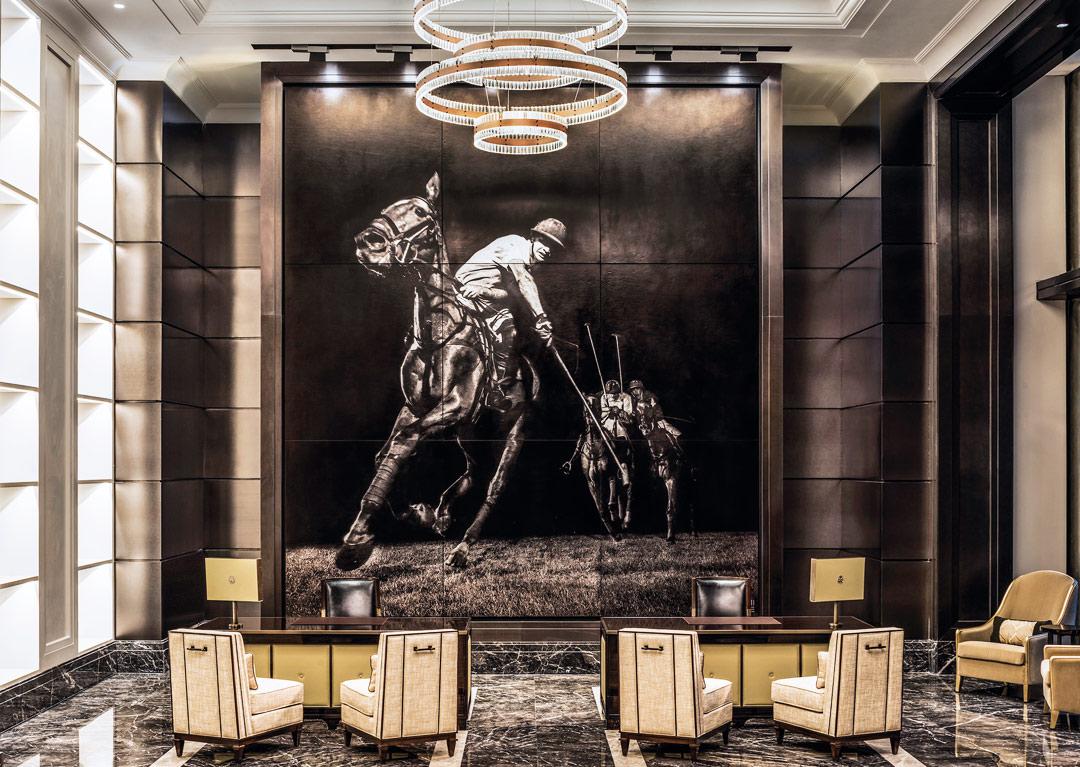 St. Regis Kuala Lumpur's polo-themed lobby.