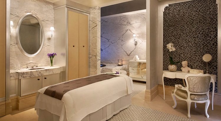 The Iridium Spa at St Regis Dubai.