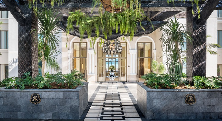 The resort's lobby entrance.