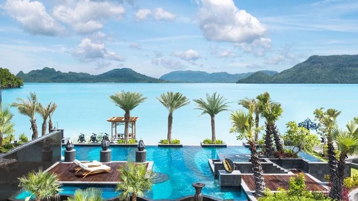 The hotel's main pool, overlooking Andaman Sea.