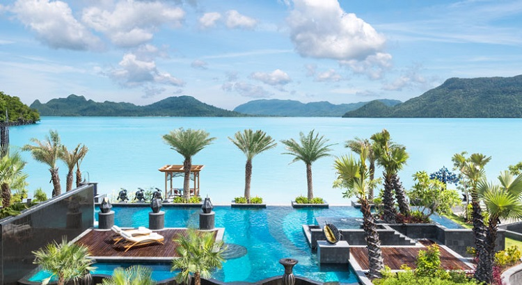 The main pool at St. Regis Langkawi.