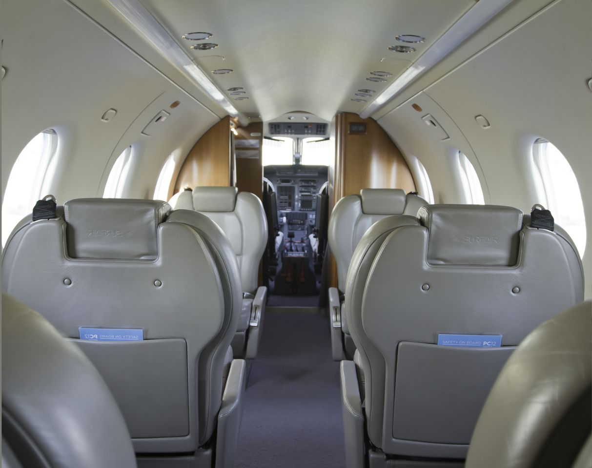The interior of the BMW-designed turboprop aircrafts.