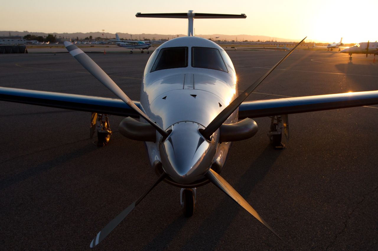 A view of the turboprop aircrafts used by Surf Air.