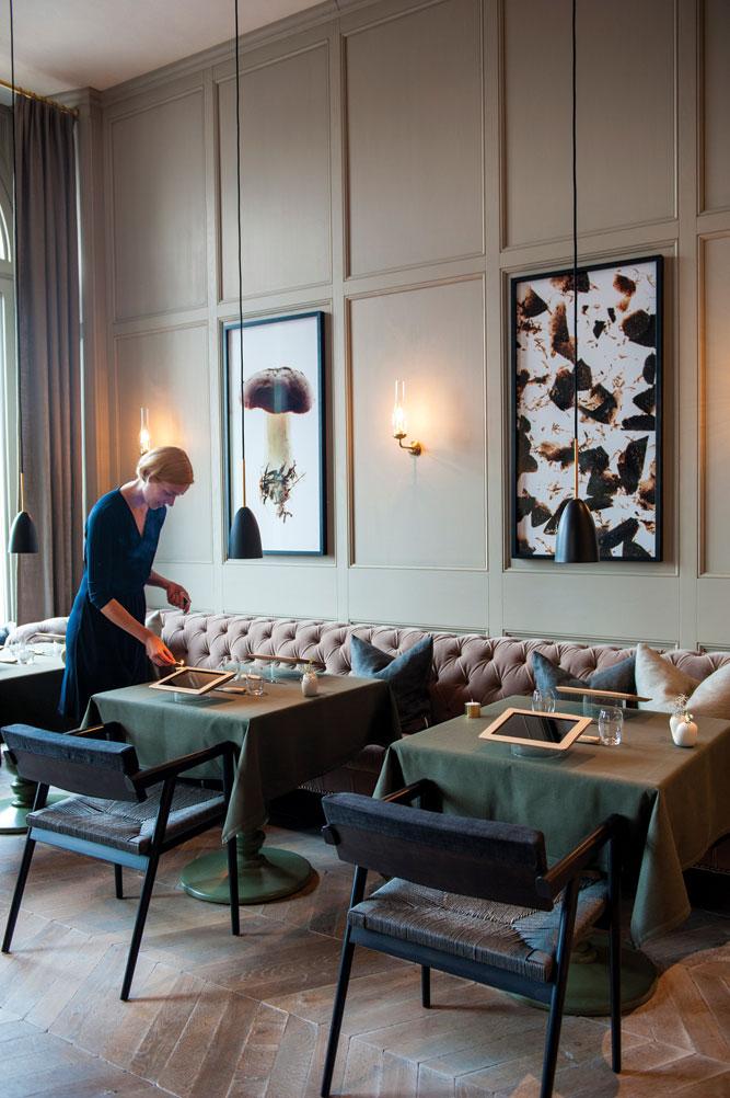 Mathias Dalgren's Matsalen dining room.