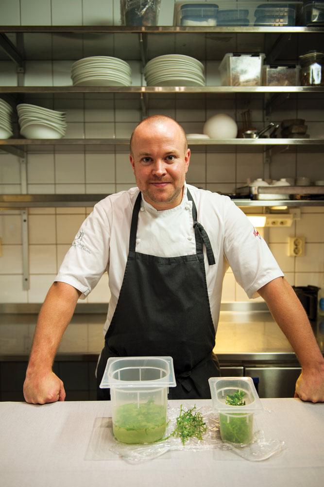 Daniel Berlin in his kitchen in Skåne Tranås, deep in the Swedish south.
