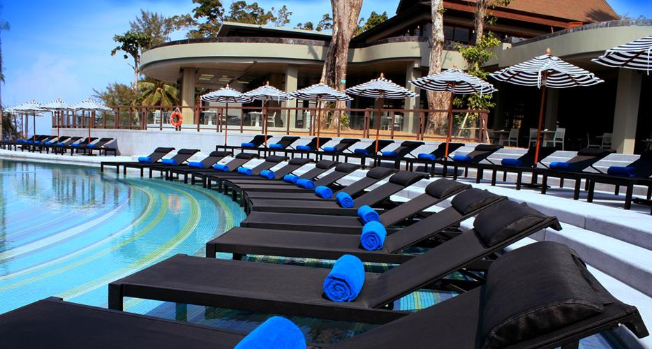 The pool at the Pullman Phuket Arcadia, Naithon Beach.