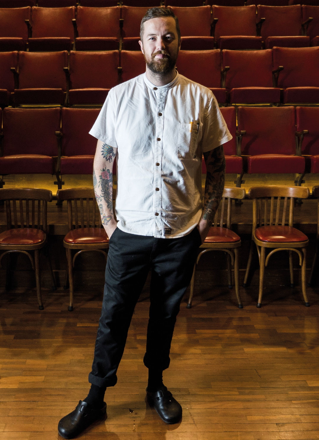 Restaurant Hubert's chef Anthony Moore.
