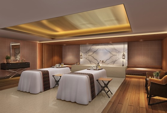 One of the Retreat Spa's spacious massage rooms.