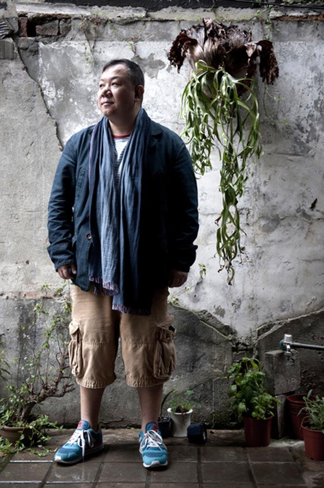 Calvin Chen outside his Four Senses restaurant.