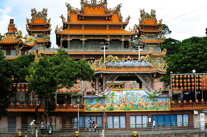 A temple in Taiwan.