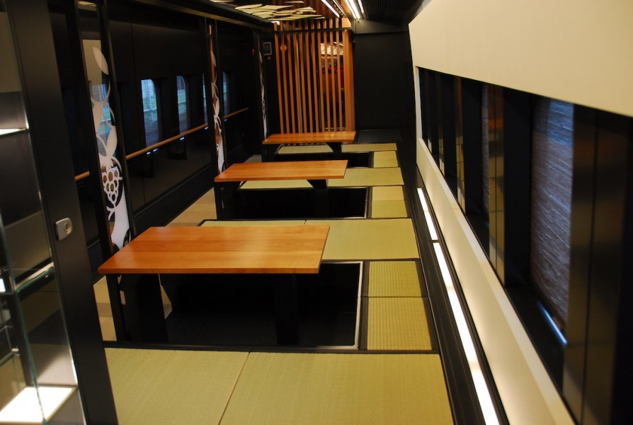 Tatami mats cover the floors in traditional style.