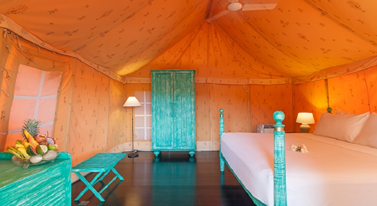 The rustic tents come with a butler service that ensures guests are taken care of throughout their stay.