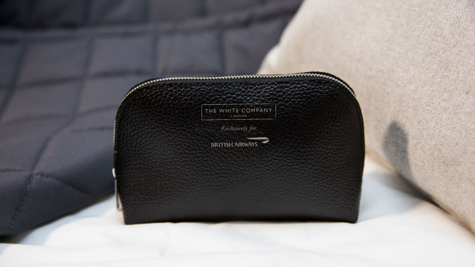 The amenity kit and bedding by The White Company