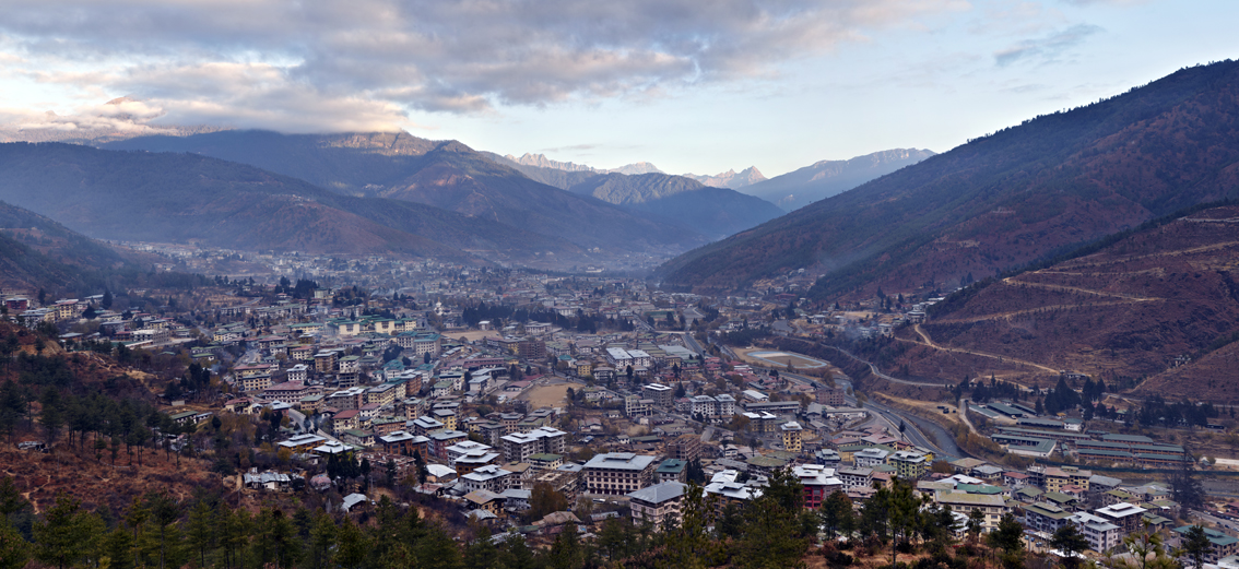 Overlooking the southern approach to Thimpu from Kuensel Phodrang Hill. Timpu has been the Bhutanese capital since 1961, when it officially replaced Punakha as the seat of government.