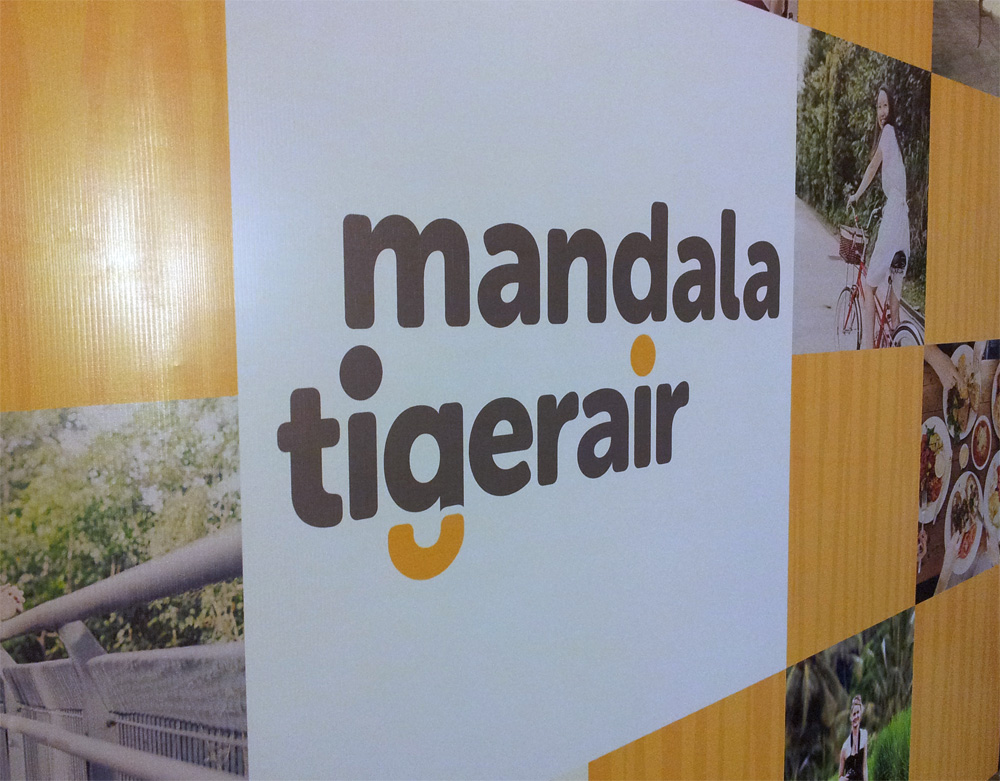 Tigerair Mandala's rebranded logo.