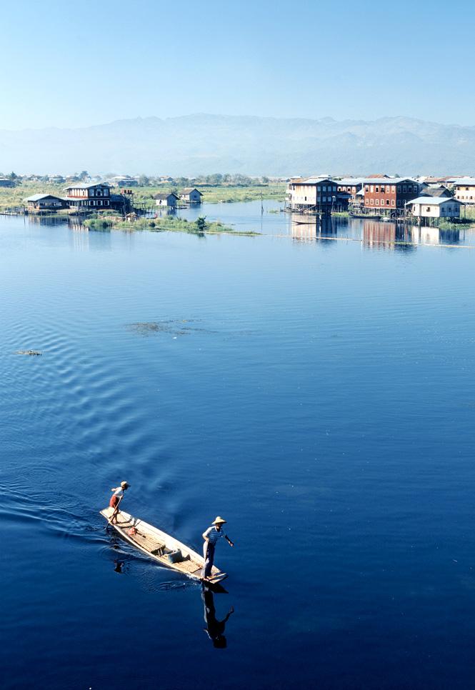 Scenic Inle Lake.