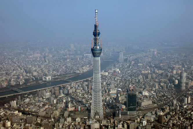 Tokyo attractions: The Tokyo Skytree.