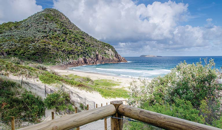 The view from Tomaree Head Summit Walk. Photo courtesy of the New South Wales Parks and Wildlife Service.